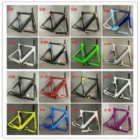 Karbon Yol Frameset Yol Bisikleti Çerçeve Bisiklet Siyah Renk Tasarım Frameset 16 Renkler