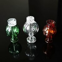 OD 30mm Smoking Accessories Clear Amber Green Heady Unique Ball Shape Style Carb Caps Dome For Quartz Banger Nails Glass Water Bongs Glass Bubble