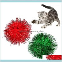 Supplies Home & Garden 2Pcs Legendog Pet Sparkle Ball 2In Anti Biting Tinsel Pom Glitter For Cat Chew Toy Interactive Toys Training Toys1 Dr