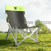 Camp Furniture Outdoor Folding Chair Ultra Light Portable Backrest Fishing Aluminum Alloy Travel Small Beach Recliner Stool
