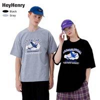 Henry Loose Fit Hommes Imprimé Sous Equipes Évolez l'été 2021 T-shirt à manches courtes Lovers Tee Fashion