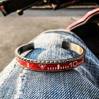 Bracelet Hommes Creative Multiples Couleurs Dial Cadran Steel Speedometer Bracelets Bangles Boube à brassage en acier inoxydable pour femmes