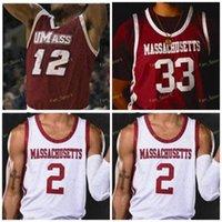 NCAA College Umass Minutemen Basketball Jersey 10 Sean East 33 Tre Mitchell 23 T.J. Semanas 12 Carl Pierre 5 Samba Diallo 4 Keon Clergeot Costume Costume