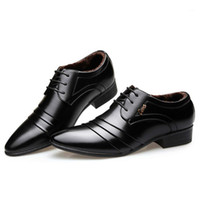 High Quality Men Oxfords Dress Shoes Fashion Lace-up Black Wedding Pointed Mocassin Homme1