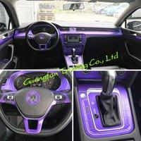 For VW Passat B8 2017-2019 Interior Central Control Panel Door Handle 3D 5D Carbon Fiber Stickers Decals Car styling Accessorie