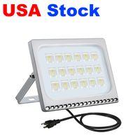 Azioni USA AC110V / 220V Plug / EU Plug / EU Plug 10W 20W 30W 50W 100W LED luci di inondazione IP65 applicare al magazzino, garage, officina di fabbrica, cortile, giardino