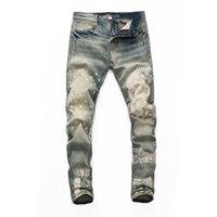 Оптовая продажа 21SS бренд дизайнер мужские джинсы европейские и американские пары HIP-хоп ночной клуб вечеринка концерт джинс звезда же стиль высочайшее качество джинсовая ткань 06