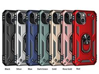 For iPhone 13 pro max Ring stand case 12 mini 11 X xr 6 7 8 plus Shockproof brushed metal cover Samsung A12 A02S A32 5G