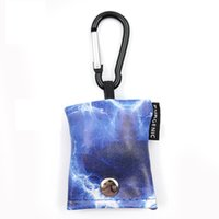 6 Colors Portable Glasses Cloth Keychains Pendant Fashion Printing Keychain Hanging Bag Carabiner Screen Cleaning Cloths DDA6378