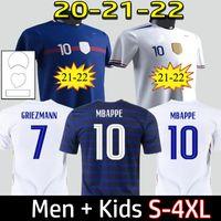 2021 Fransa Futbol Forması Maillots De Futbol Maillot Equipe de Fransız 20 21 MBappe Griezmann Kante Pogba Boyutu S-4XL
