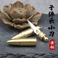 Brass Detachable Bullet Knife Creative Pure Copper Key Ring Pendant Portable Express Utility