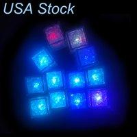 Luzes de festa LED cor quadrada mudando cubos de gelo brilhando piscando piscar novidade champanhe torre torre christmas oêmulo