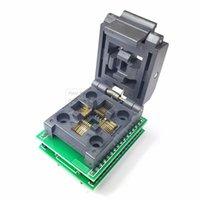 SENSORSTSTQFP32 QFP32 a DIP32 IC Programmatore Adattatore Adattatore Chip Test Presa Seggiolino Sedile Integrato Circuiti 0.8 Pin Pitch Flip Programming Nuovo