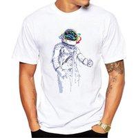 Homens camisetas Vagytees 2021 Astronauta T-shirt Homens Criativo Verão Casual Viagem Espaço Cool Tshirt Meninos Streetwear Tops de estilo de moda