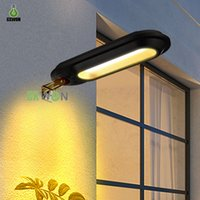 Solar Security wall Lamps Outdoor 18leds Fence Light Waterproof Gutter Lights For Eaves Garden Landscape Pathway