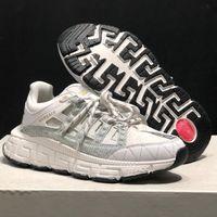 Trigreca sneakers homens desginter pai sapatos mulheres couro barocco impressão lateral greca confortável sneaker ao ar livre sapatos casuais qualidade superior com caixa 305