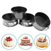 4-дюймовый мини пружинные кастрюли набор углеродистой стали для выпечки PAN / без палки Minis Cake Pans, круглые выпечки Чизкейк