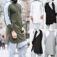 Men Jubba Thobe Muslim Arabic Islamic Clothing Abaya Dubai Kaftan Winter Long Sleeve Stitching Saudi Arabia Sweater Ethnic