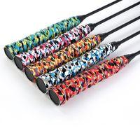 Camuflagem Impresso Raquete Badminton Raquete Suor Faixa de Pesca Rod Tênis Aperto Não-deslizamento Strap Keel Cola De Cola De Raquete Sports Sets Lidar com Acessórios