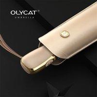 Olycat Pocket Pocket Женщины Зонтик Дождь УФ Защита Солнца Автоматы для девочек Плоский Портативный Складной S Parasol UPF50 + 210817