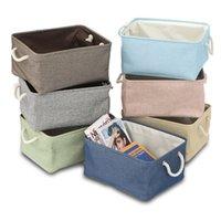 Льняные корзины для хранения корзины Bins Организатор ткани Bin Parry Thampers Корзины для питомника Детские игрушки HHH21-195