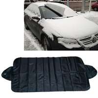 Silver Car Windscreen Covers Prevent Snow Ice Sun Shade Dust Frost Window Screen Auto Fornt Windshield Cover With Suction Cups Sunshade