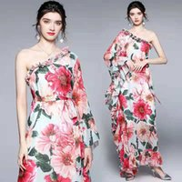 Summer Affascinante Donne di Affascinante Donne Delle Donne Lotus Sleeve Stampa floreale per vacanze