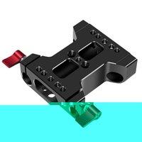 DSLR 어깨 장비 지원 액세서리 삼각대를위한 15mm로드 레일 클램프가있는 다기능 카메라베이스 플레이트
