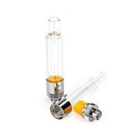 Full Glass Vape Cartridge .5 ml 1.0 ml E-Sigaret Verstuiver Verticaal Keramische Spoel 510 Draad Lege Vaporizer Pencartridges Onderste luchtstroom Dikke Oliekarren