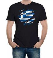 Torn Griechenland Flagge Herren T-Shirt Greek Athens Country National Football