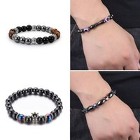 Charm Bracelets Turkish Evil Eye Bracelet Obsidian Stone Beads Wristband Wealth Good Luck Men Women Jewelry Gift