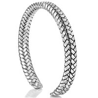 Bangle Vintage Cuff Handmade Twisted Bracelet Open 925 Sterling Thai Silver Couple