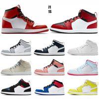حذاء كرة السلة للأطفال مصمم أحذية رياضية للأولاد والبنات محظور 1s حذاء رياضي للشباب والأطفال الرياضيين في الهواء الطلق مدربين EUR28-35