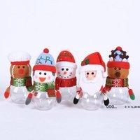 Noel Şeker Kavanoz Plastik Şeffaf Hediye Paketi Kutusu Noel Baba Kardan Adam Elk Noel Dekorasyon Çocuk Hediyeler FWA8625