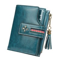 Card Holders Fashion Small Oil wax Leather Wallet Women Stylish Zipper & Hasp Wallet Woman High Quality Short Credit Holder Purse