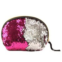 Fashion Bags Sequined Cosmetic Pu High Quality Women Make Up Travel Ladies Wash Bag Pouch Organizer Makeup