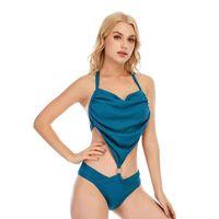원피스 정장 원피스 수영복 여성 2021 섹시한 고삐 브라질 수영복 백리스 레이스 위로 비키니 수영복 수영복 해변 착용