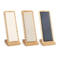 Bamboo Jewelry Display Stand Wood Necklace Easel Showcase Display Holder Stands 211012