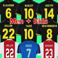Maglia da calcio AJAX amsterdam 2022 fans player version KUDUS ANTONY BLIND PROMES TADIC NERES CRUYFF 20 21 22 kit da uomo + bambini divise da maglia da calcio
