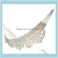 And Hiking Sports & Outdoorshammock Stand Hanging Chair Swing Camping Nordic Posebiya Tassel Double Large Outdoor Patio Furniture Camp Drop
