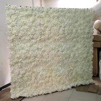 2.4MX2.4M Романтическая искусственная розовая гортензия цветочная стена с подставкой черного железа сложенная труба рамка для свадебных вечеринок декор декоративные цветы