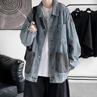 Men's Jackets GODLIKEU Denim Coats Spring Autumn Daily Casual Jeans Jacket Male Big Pocket Outerwear