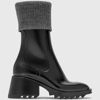 Luxury Designer winter newest Fashion wool shoes heeled Rainboots womens Half Boot Martin Boots Top quality chunky heel women shoe size 35-40