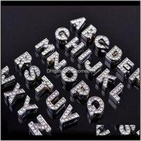 Autres résultats Composants Composants Bijoux Drop Drop Drop 2021 Alphabet Cristal Strass Strinest Lettre Charme 8mm Sier Bling Numéro A à Z Fit Ceinture