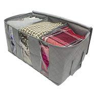Dokunmamış Katlanabilir Saklama Kutusu Taşınabilir Giysi Organizatör Düzenli Kılıfı Bavul Ev Saklama Kutusu Büyük Kapasiteli Ev Aksesuarları EED7391