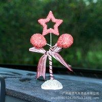 Personnalité créative mignonne Diamant Brillant Ballon Star Type Foret d'eau Publicité de la voiture Intérieur Inlaid d'ornements