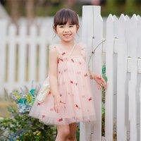Ins Bebê Meninas Tutu Vestidos Crianças Flor Abacaxi Abacaider Sling Gaze Saia Verão Partido Elegante Agaric Lace 3251 Q2
