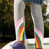Baby Girls rainbow leggings spring summer kids colorful stripe princess legging cotton knitting pants children bottom 1847 Z2