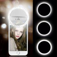 USB-Gebühr LED Selfie Ring Licht Handy-Objektiv Selfies Lampe für iPhone Samsung Xiaomi Selfielight