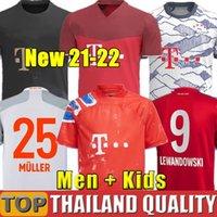 바이에른 축구 유니폼 21 22 세 번째 Lewandowski Sane Munich Coman Muller Davies 축구 셔츠 세트 2021 2022 Humanrace 넷째 4 번째 남자 키트 제복